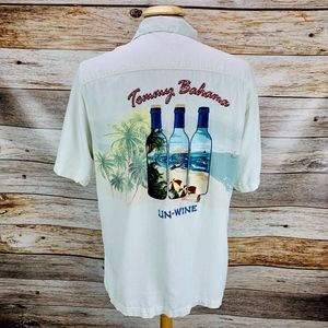 "Tommy Bahama Silk Hawaiian Camp Shirt ""Un-Wine"""
